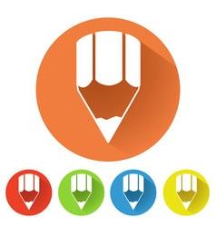 Pencil symbol vector image vector image