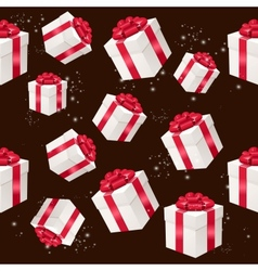 seamless pattern with presents boxes vector image vector image