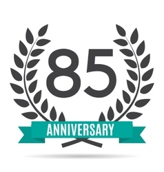 Template Logo 85 Years Anniversary vector image vector image