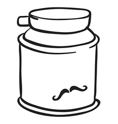 A can of shaving cream vector image