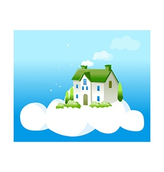 A view of a house vector image