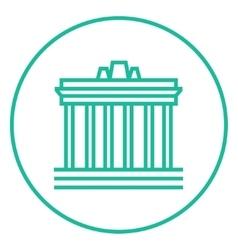 Acropolis of Athens line icon vector image