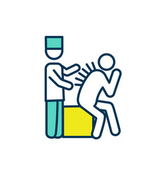 Acupuncture session rgb color icon vector