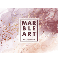 Alcohol ink marble gradient neutral design vector