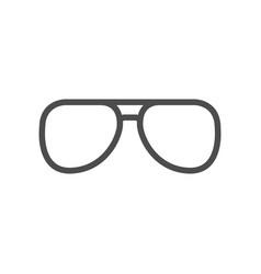 aviator eyeglasses glyph icon or sunglasses symbol vector image