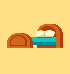 bed icon isolated furniture vector image