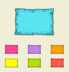 bed pillow templates set multicolored pillows vector image