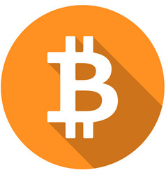 bitcoin flat icon isolated on white background vector image