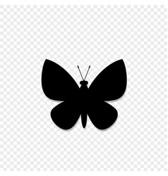 black silhouette of butterfly isolated on vector image