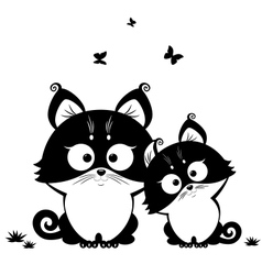 cat black vector image