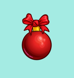 Christmas cartoon icon - bow ball vector