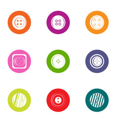 Clasp icons set flat style vector