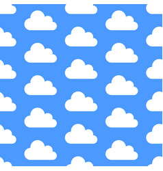 cloud data storage seamless pattern with icons vector image