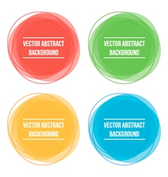 Colorful abstract round frames backgrounds vector