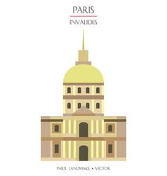 Colorful paris landmark 3 vector