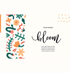 Contemporary floral template presentation cover or vector