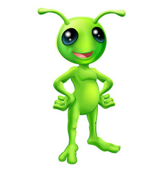 Cute cartoon alien vector