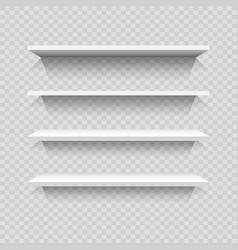 Design empty bookshelves vector