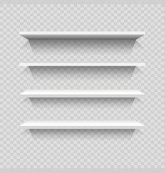 Design of empty bookshelves vector