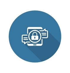 Encrypted Messaging Icon Flat Design vector