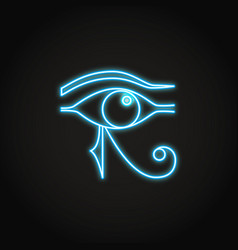 eye horus icon in glowing neon style vector image