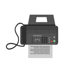 fax icon business phone office web machine vector image