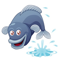 Fish jump vector image