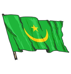 Flag of Mauritania vector