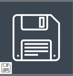 floppy disk line icon vector image