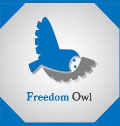 freedom owl icon logo vector image