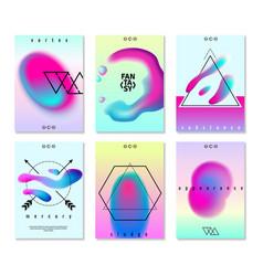 gradient design banners set vector image