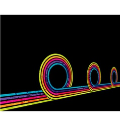 grunge disco background vector image vector image