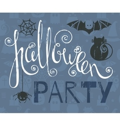 Halloween party vintage grunge poster vector image