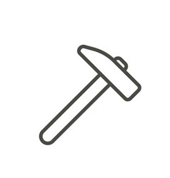 hammer icon line work tool symbol vector image
