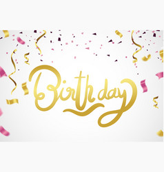 happy birthday celebration party print design vector image