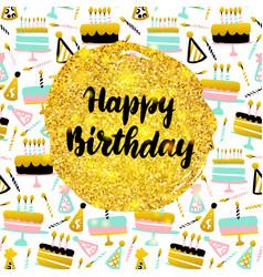 happy birthday postcard vector image