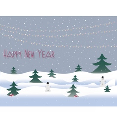 Happy New Year card vector image