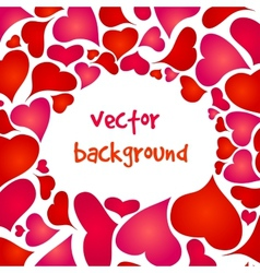happy valentines background vector image