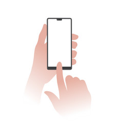 holding smartphone vector image