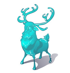 ice figurine a deer isolated on a white vector image