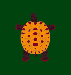 In flat style turtle vector