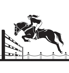 Jockey ride horse vector
