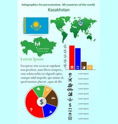 kazakhstan infographics for presentation all vector image
