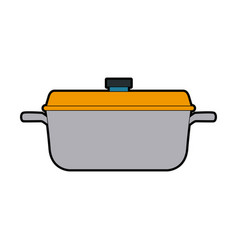 Kitchen pot cartoon saucepan of to cooking vector