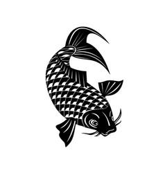 Koi jinli or nishikigoi brocaded carp a colored vector