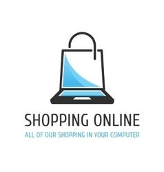 Logo Shopping online vector