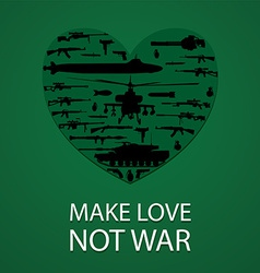 Make love not war poster vector
