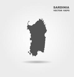 map of sardinia italy vector image