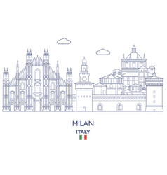 Milan city skyline vector