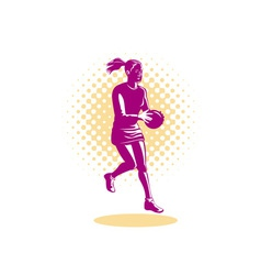 Netball Player Jumping vector